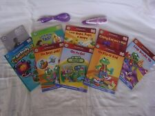 LEAPFROG TAG READER PEN WITH starter set and Volume 1(6 books)