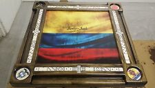 Domino Tables by Art with Colombia Weathered Flag & we will add your name free