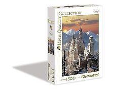 Clementoni German Bavarian Neuschwanstein Castle Winter 1500 PC Jigsaw Puzzle