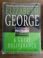 Elizabeth George  A Great Deliverance   2 cassette audio book