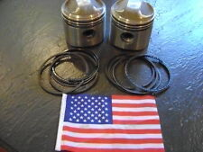 NOS MADE IN USA FORGED PISTONS SET HARLEY KNUCKLEHEAD 74 CI  +.030 AMERICAN .