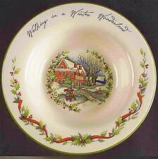 "Susan Winget Winter Wonderland 9"" Large Rim Bowl Certified International Skating"