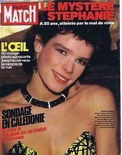 Couverture magazine,Coverage Paris-Match 08/02/85 Stéphanie de Monaco
