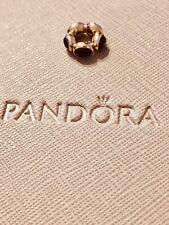 Genuine New Pandora 14ct 14k Onyx Cabochon Aurora Spacer750802ON In Box Rare HTF