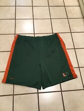 VTG Nike The U Miami Hurricanes ACC Football Athletic Training Gym Shorts Sz. L