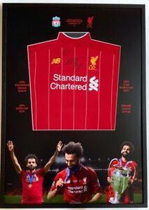 Mohamed Salah hand signed Liverpool FC shirt