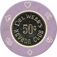 Del Webb's Nevada Club South Point (Laughlin) Nevada NV 50¢ Casino Chip