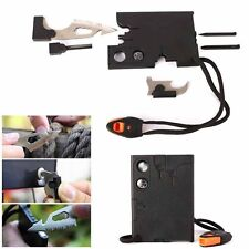 18 in 1 Multi Purpose Pocket Credit Card Survival Knife Outdoor Camping Tools