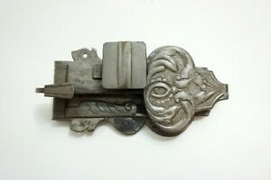 ANTIQUE 17TH CENTURY ORNATE GERMAN STEEL DOOR LOCK GOTHIC MEDIEVAL DESIGN!!  n1