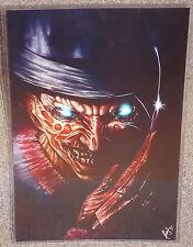 Freddy Kruger Glossy Horror Print 11 x 17 In Hard Plastic Sleeve