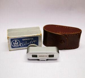 Serviced 1950s Watameter Condor Rangefinder for Cold or Hot Shoe Mount Cameras