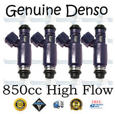 850cc High Flow Genuine Denso 4x 80lb Top Feed High Impedance Fuel Injectors