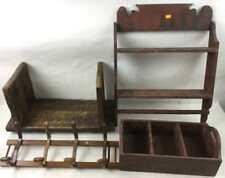 Wood Shelf, Coat Rack, Book Shelf, & More Lot 3390