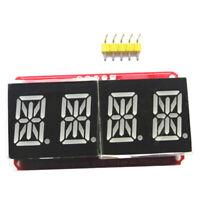 "1/2"" 4 bit Digital LED Display Module I2C For Arduino 14 Segment Red/Orange"