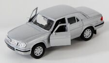 BLITZ VERSAND GAZ 31105 silber  silver Welly Modell Auto 1:34-39 NEU & OVP Wolga