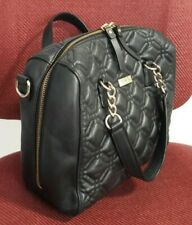AUTHENTIC KATE SPADE BLACKE QUILTED LEATHER SATCHEL BAG PURSE $395 BLACK