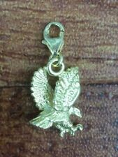"14K YELLOW GOLD 3-D EAGLE 7/8"" CHARM QVC $199"