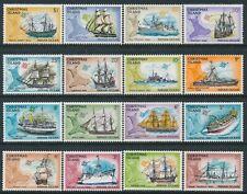 1972-1973 CHRISTMAS ISLAND SHIPS SET OF 16 FINE MINT MNH