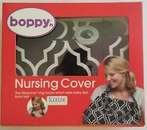 Boppy Nursing Cover Slideline Collection - Black/White
