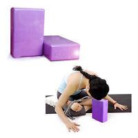 Equipment Purple Yoga Block 2PCS Set Yoga Brick Home Health Gym Exercise HOT