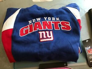 NewYork Giants FullZip embroidered Blue kids M5/6 NFL Team Apparel reebok Hoodie
