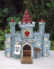 Miniature Dollhouse FAIRY GARDEN House ~ MEDIEVAL TIMES Castle with Drawbridge