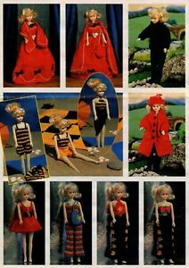 Sindy Barbie Dolls Clothes Knitting Pattern DK 24 items to knit