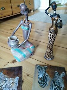 Afrika Dekoration Figuren+ Metallbilder :)