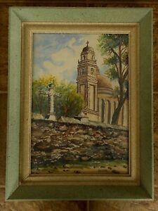 Watercolor Painting Tepeapulco Mexico Alejandro A Bernal Original Framed MCM