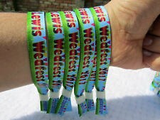 300 x WEDFEST Personalised Wristbands with Your Design,Glow in the Dark Clips UK