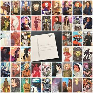 Star Wars Postcards - Female Characters - 1-50 Choose From List