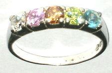 Zirkonia Kristall Ring massiv Silber Sterling 925 Ø 19mm