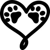 Pet Paw Print Heart Dog Cat Vinyl Decal DieCut Car Window Bumper Wall Sticker