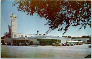 1950s WINNEMUCCA, Nevada Postcard SONOMA INN Hotel / Casino Street View Chrome