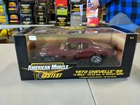 1:18 Ertl American Muscle 10 Fastest 1970 CHEVELLE SS Burgundy