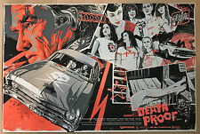 Vance Kelly DEATH PROOF Screen Print Poster Tarantino Hero Complex Stuntman Mike