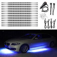 "14pcs Blue 12"" Strip LED Lights Underglow Car Truck Under Body Neon Accent Glow"
