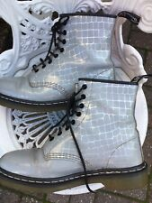 Doc Martens Grey/silver Crocodile Effect Leather 1460 Limited Edition Uk8/42