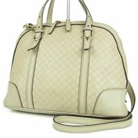 Sale! Auth GUCCI GG Micro Guccissima Leather 2WAY Shoulder Hand Bag 10777bkac