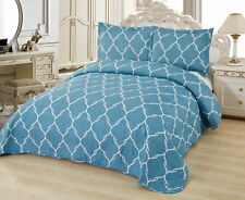 3 Pc. Super Soft Queen Pre-Washed Quilt Set,Quilted Bedspread Coverlet (Selina)