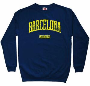 Barcelona Sweatshirt - Spain Espana Catalunya FCB Soccer Crewneck - Men S to 3XL