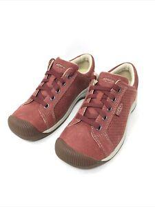 KEEN Women's Reisen Lace Perf Shoe, Red Dahlia, Size 5 M US