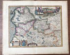 CARTE XVII ème  Visscher Picardie Arras St Omet Pas De Calais 1624
