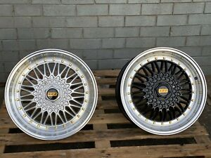 4 Pcs Replica BBS-RS Wheels 17x7.5 4x100 4x114.3 For E30, MX-5, RX7, MR2, Mini