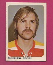 RARE 1973-74 WHA QUAKER OATES RAIDERS DON HERRIMAN  EX-MT MINI CARD(INV#1367)