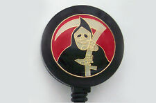 GRIM REAPER GOTH Retractable Reel ID Card Badge Holder Key Chain Ring EMO