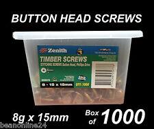 Button Head Stitching Screws BULK 8g x 15mm - Box of 1000