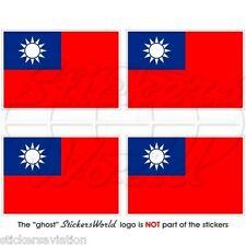 """Taiwán banderas taiwanesa, República de China, Roc 50mm (2 """") Vinilo Stickers, Calcomanías X4"""