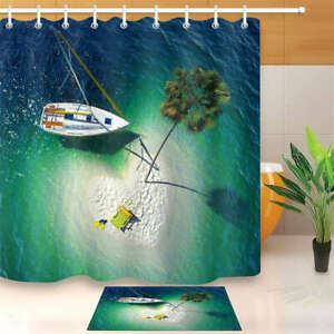 Kindheart Sea Waterproof Bathroom Polyester Shower Curtain Liner Water Resistant