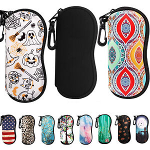 Printed Portable Soft Sunglasses Bag Eyeglass Case Neoprene Pouch Storage Box